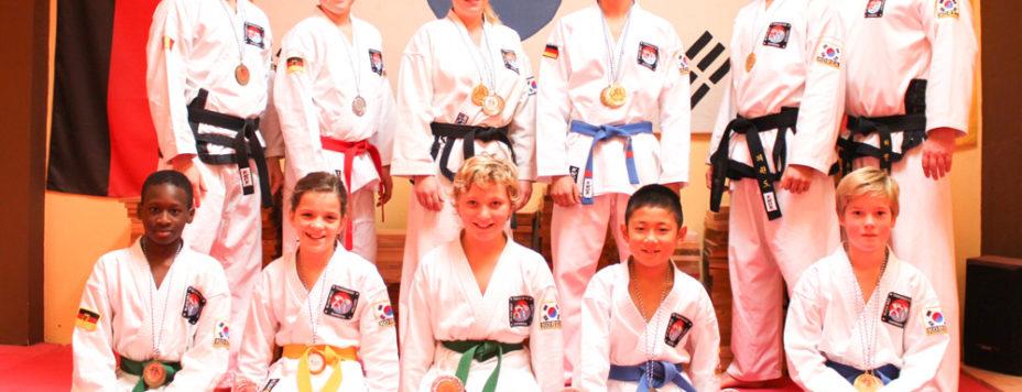 Gewinner der 22. Bayerischen Meisterschaft in Taekwon-Do